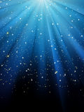 Stars On Blue Striped Background. EPS 8 Royalty Free Stock Images