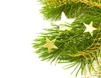 Stars ornament on a Christmas tree Stock Photos