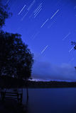 Stars over Brown Lake. On North Stradbroke Island, the worlds 3rd largest sand island Stock Photos
