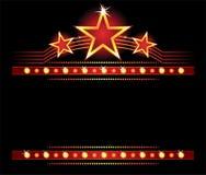 Stars over copyspace Stock Photos