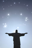 Stars over Cristo Redentor Royalty Free Stock Photos