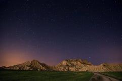 Stars over the desert stock photo
