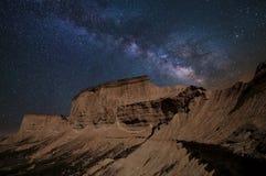 Stars over the desert Royalty Free Stock Images