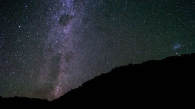 Stars above hillside in night sky Royalty Free Stock Photography