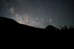 Stars over hillside Stock Photography