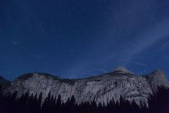 Stars over mountain peaks