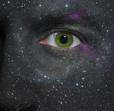 Stars painted on a face Royalty Free Stock Photos