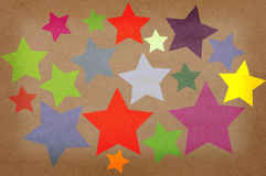 Stars on a paper grunge background. Stock Images