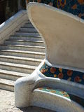 Stars at Park Guell. Stairs at Park Guell in Barcelona Royalty Free Stock Images