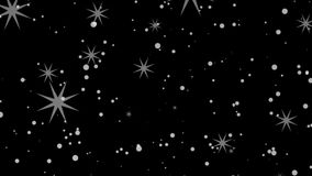 Stars and particles stock footage