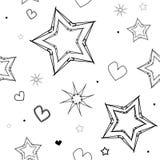 Stars patern Fotos de Stock Royalty Free