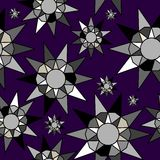 Stars pattern. In fashion trend colors Royalty Free Stock Photo