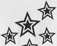 Stars pattern on fabiric Stock Image