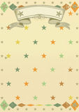 Stars pattern poster stock photos