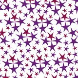Stars pattern in red and violet colors.hand-drawn watercolor stars, isolated on white background. royalty free illustration