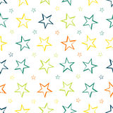 Stars pattern seamless background Stock Image