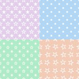 Stars pattern seamless background Royalty Free Stock Photo