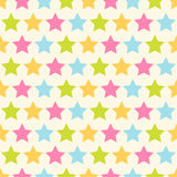 Stars pattern. Seamless vector pattern with colorful stars. For cards, invitations, wedding or baby shower albums, backgrounds, arts and scrapbooks royalty free stock photo