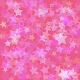 Stars pink background Royalty Free Stock Photo