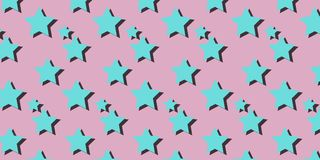 Stars pink background Royalty Free Stock Photos