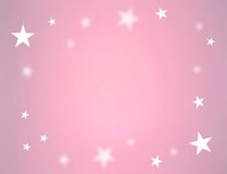 Stars on pink color Stock Photography