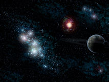 Stars and planet stock illustration