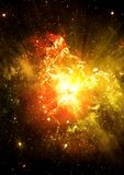 Stars of a planet and galaxy Royalty Free Stock Photo