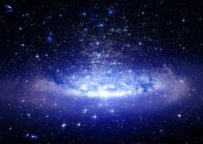 Galaxy in a free space Royalty Free Stock Image