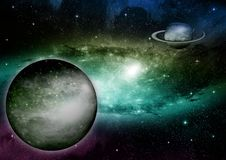 Galaxy in a free space Stock Image