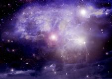 Stars of a planet and galaxy in a free space Stock Photos
