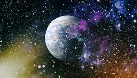 Nebula and galaxies in space.Planet and Galaxy - Elements of this Image Furnished by NASA Royalty Free Stock Photos