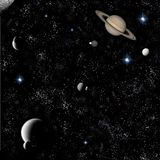 Stars and planets Royalty Free Stock Photography