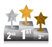Stars and podium Stock Image