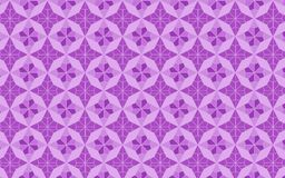 Stars and polygons in Lilac and violet seamless pattern stock illustration
