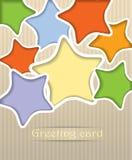 Stars postcard illustration Stock Photography