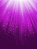 Stars on purple striped background. EPS 8 Royalty Free Stock Photo