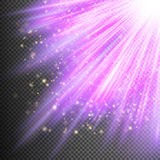 Stars on purple striped background. EPS 10. Vector file included Royalty Free Stock Images