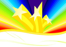 Stars and rainbow Royalty Free Stock Image