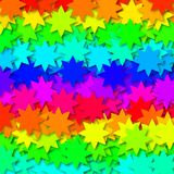 Stars in rainbow colors Royalty Free Stock Image