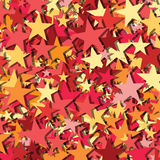 Stars random vector. Red orange yellow random stars anstract creative vector design background illustration Royalty Free Stock Images