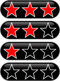 Stars rating. Button to rate the quality Royalty Free Stock Images