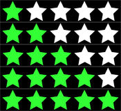 Stars rating on black background. Five stars rating. Vector illustration Stock Photography