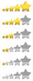 Stars rating Royalty Free Stock Photo