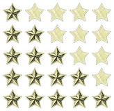 Stars rating. Doodle style Royalty Free Stock Photography