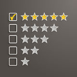 5 Stars Rating Stock Photography