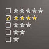 4 Stars Rating Royalty Free Stock Image