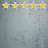 5 Stars Rating Head Concrete. 5 rating stars on the concrete background Royalty Free Illustration