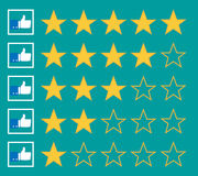 Stars rating. Isolated on background. Vector illustration. Eps 10 Stock Image