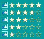Stars rating. Isolated on background. Vector illustration. Eps 10 Royalty Free Stock Photography