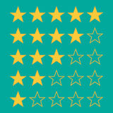 Stars rating. Isolated on background. Vector illustration. Eps 10 Stock Photos